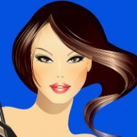 cartoon image of lady