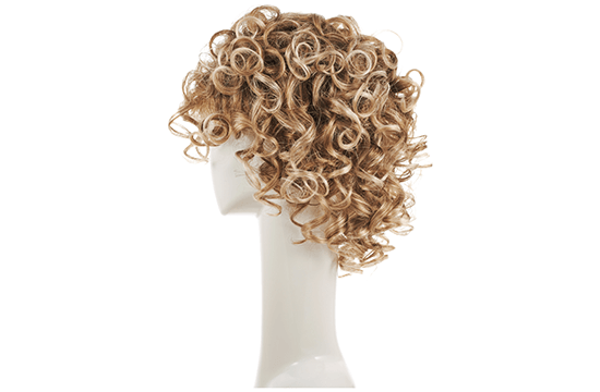 synthetic blond wig