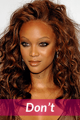 Tyra Banks high hairline