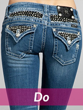 embellished jean pockets