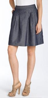 basic grey skirt