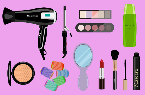 hair and makeup accessories
