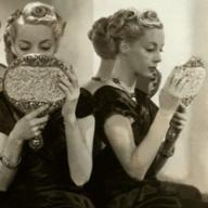 women looking in the mirror