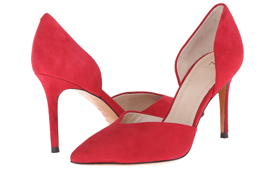 D'Orsay red heels
