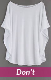 white oversize clothes