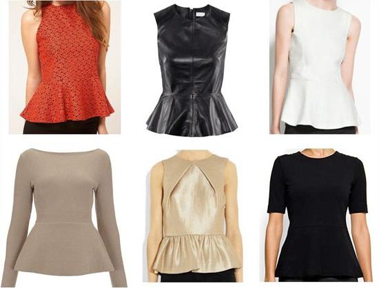 peplum blouses