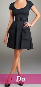 short black dress and long legs