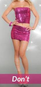 glittery pink ensemble