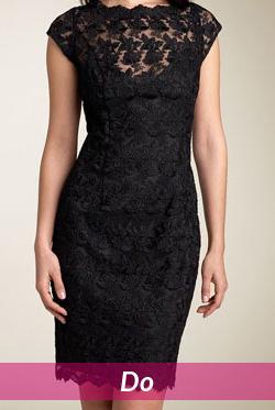 black lace dress fabric