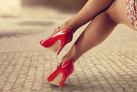 legs and red heels
