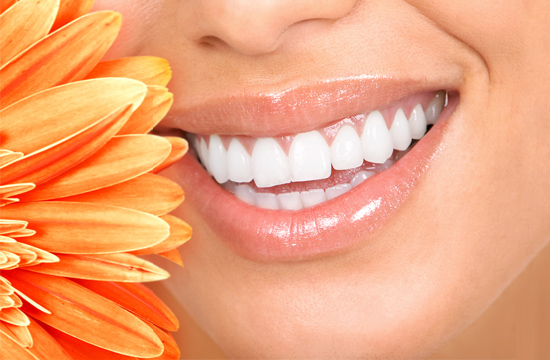 bright white teeth