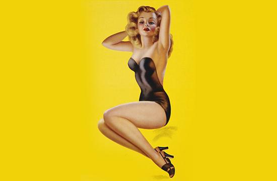 pin up girl posing in lingerie