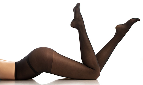 black pantyhose