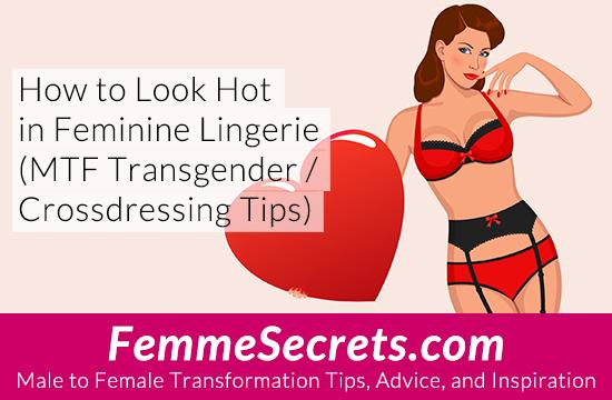 transgender crossdressing feminine lingerie