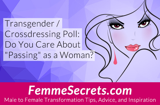 "Transgender / Crossdressing Poll: Do You Care About ""Passing"" as a Woman?"