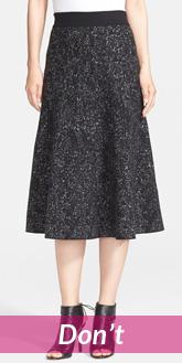 long A line skirt