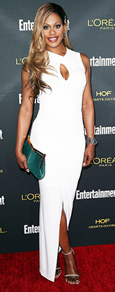 Laverne Cox in white