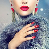 fur and red nails