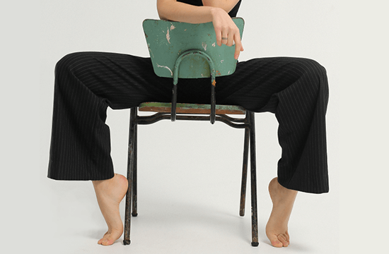 lady sitting on a chair