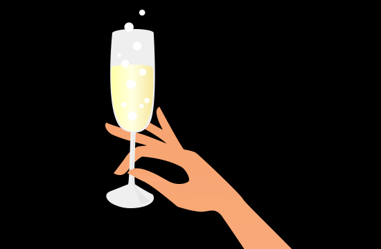 cartoon champagne glass