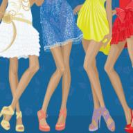 4 women's dress and legs