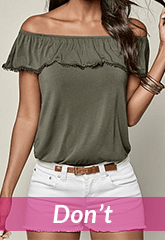 army green off shoulder blouse