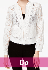 white lace blazer jacket