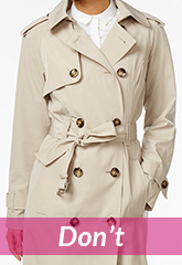 beige French trench coat