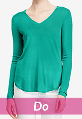 green long sleeved blouse