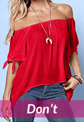 red off shoulder blouse