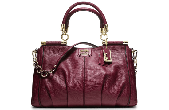deep purple handbag