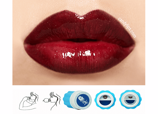 red plump lips with CandyLipz