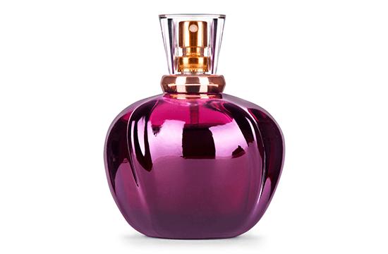 violet perfume bottle