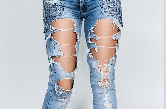 tattered denim jeans