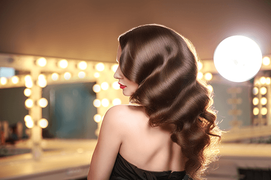 woman with gorgeously styled hair