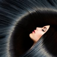 woman with beautiful black hair