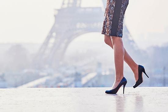 lady walking in heels
