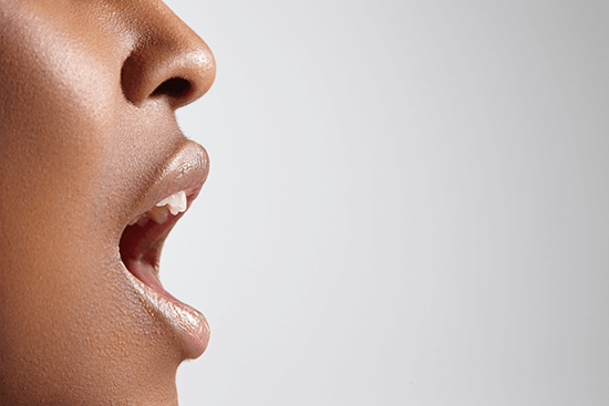 lady with open mouth
