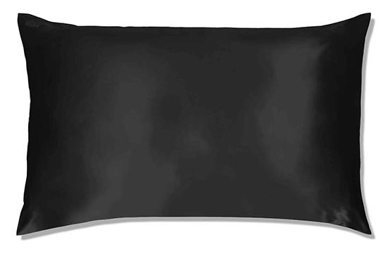 black silk pillow case