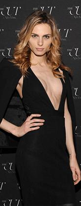 Andreja Pejic in black gown