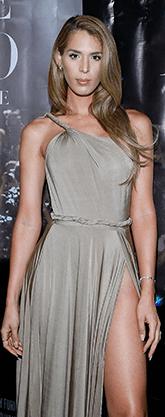 Carmen Carrera in grey gown