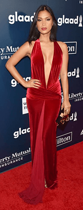 Geena Rocero in red gown