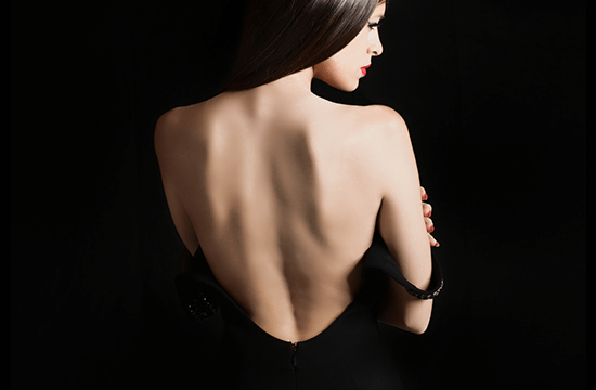 bare back of woman