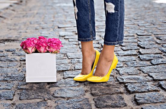classy yellow heels