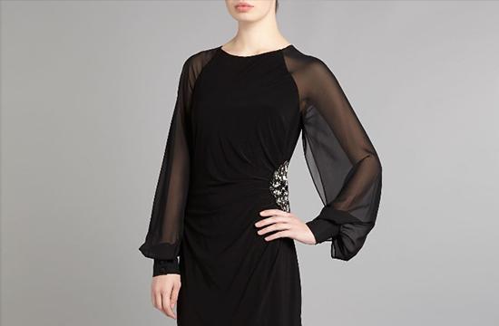 classy sheer black dress