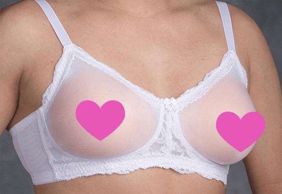 white pocket bra