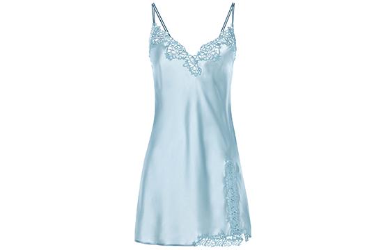 baby blue silky sleepwear