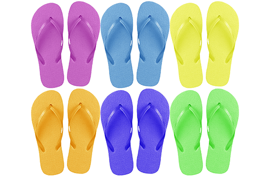 colorful flipflops