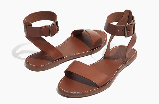 brown stylish summer sandals